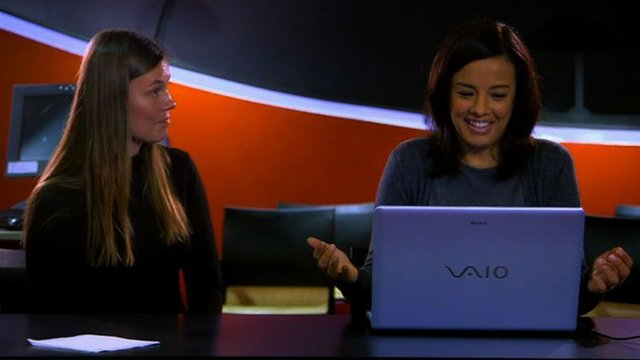Liz Bonnin (right) takes a sugar taste test