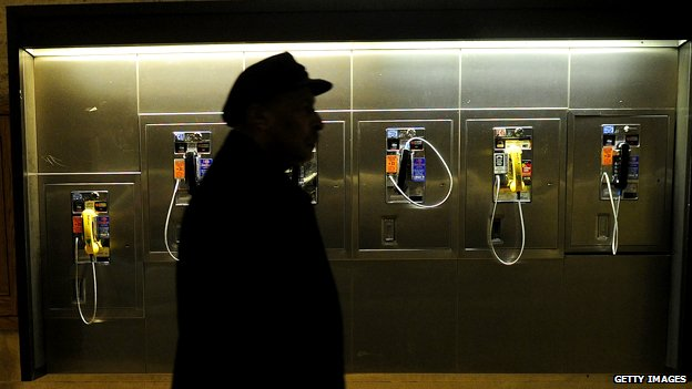 Public phones in New York's Grand Central station
