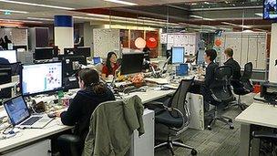Modern office employees