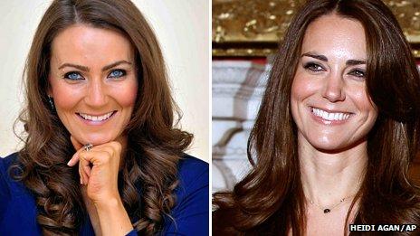 Heidi Agan (left and Kate Middleton