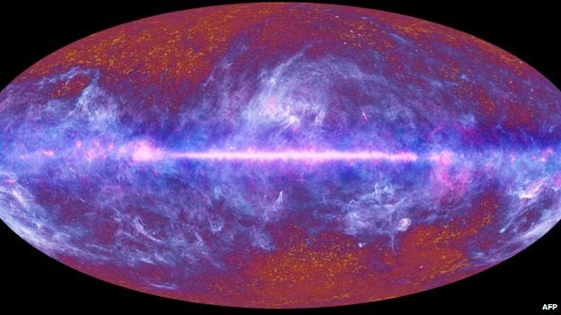 An image of the 'oldest light' in the universe