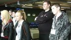 PC Stephen Kanally and pupils