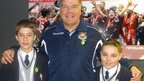 Josh and Jack with West Ham manager Sam Allardyce
