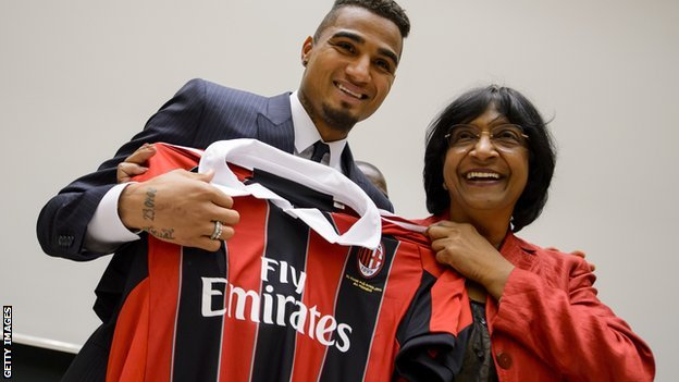 Navi Pillay (right) and Kevin Prince Boateng