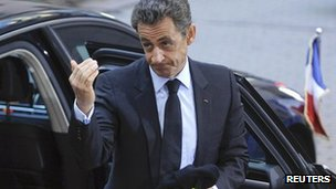 File photo of Nicolas Sarkozy (26 October 2011)
