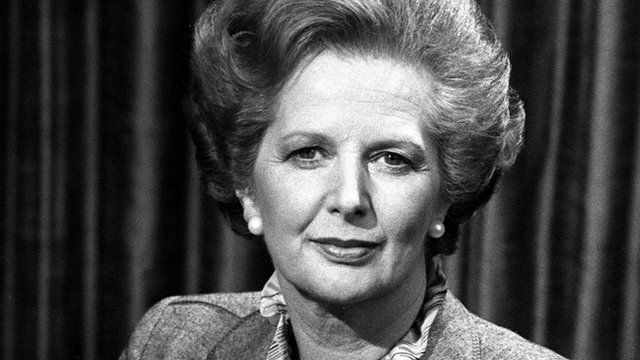 Margaret Thatcher in the BBC's studios in 1982