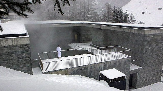 A building designed by Peter Zumthor