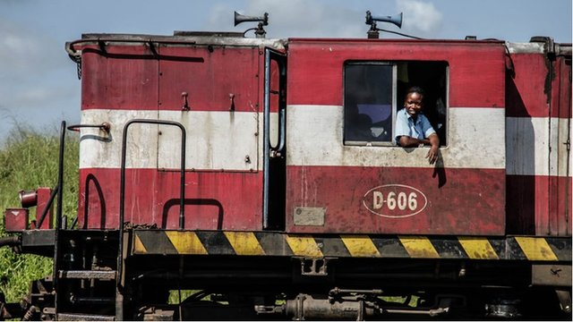Clotilde Matia, one of Mozambique's three women train drivers