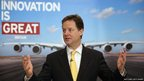 Deputy Prime Minister Nick Clegg speaks to staff as he visits the Airbus site at Filton