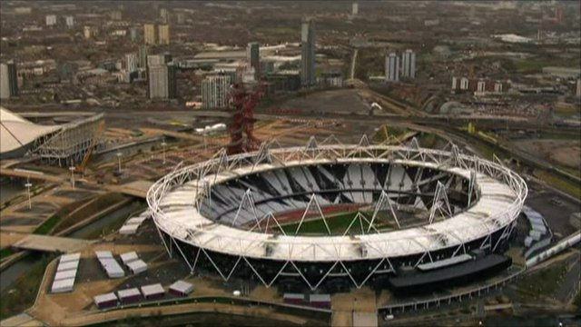 The Olympic Stadium in East London