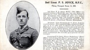 Second Lieutenant P S Joyce