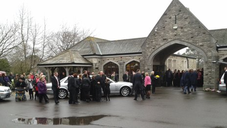 Jade Clark's funeral at Bournemouth Crematorium
