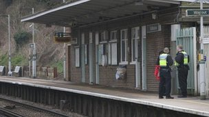 Officers at Riddlesdown Station