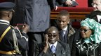Zimbabwean President Robert Mugabe and his wife Grace at the Pope Francis's inaugural mass in Rome on 19 March 2013