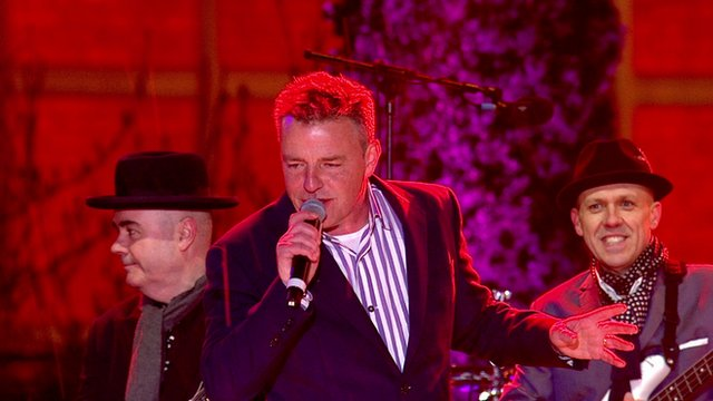 Madness performing at BBC Television Centre