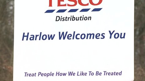 Harlow Tesco sign