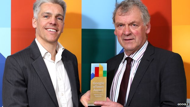 Dan Cobley, managing director at Google UK, and Montgomeryshire MP Glyn Davies