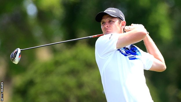Justin Rose in second round action at Bay Hill