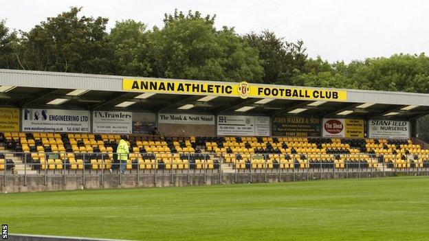 Annan Athletic's Galabank stadium