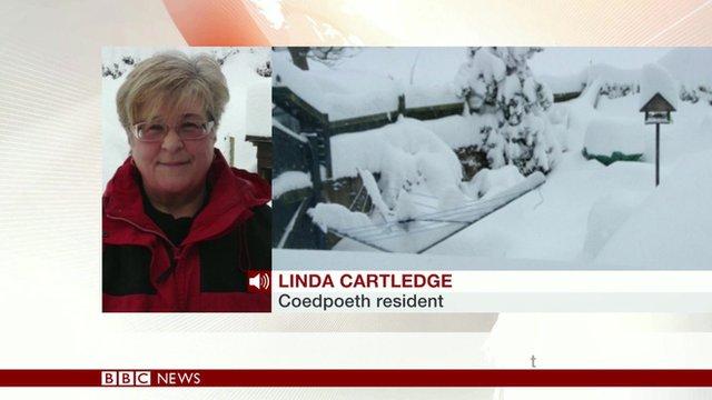 Coedpoeth resident Linda Cartledge