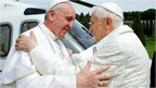 Pope Francis and Pope Emeritus Benedict at Castel Gandolfo - 23 March