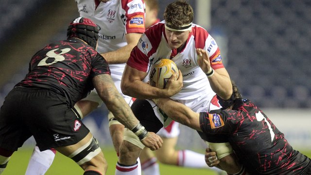 Match action from Edinburgh against Ulster