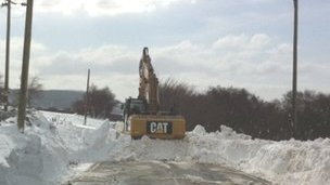 Snow clearing on Arran