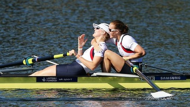 Helen Glover and Polly Swann took Gold in Sydney