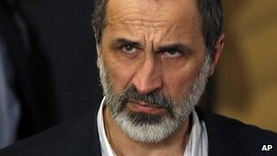 Moaz al-Khatib, head of the Syrian National Coalition. 2 Feb 2013