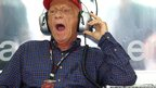 Niki Lauda yawns as he watches qualifying