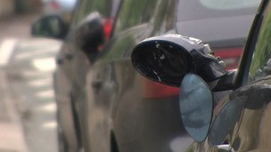 Cars damaged in Hampton Road, Bristol
