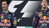 Mark Webber (left) and Sebastian Vettel
