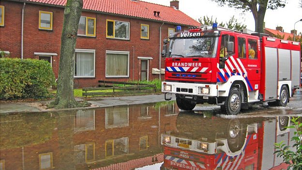 Flooding in Amsterdam