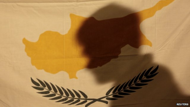 Shadow over Cyprus flag