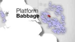 Map showing location of the Babbage platform