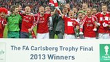 Wrexham celebrate FA Trophy final victory