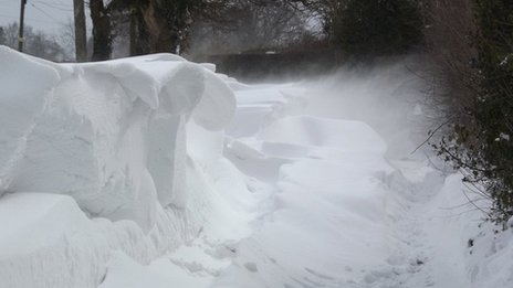 BBC website reader Sandra Kaine took this picture outside her house near Hilderstone in Staffordshire