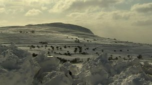 Snow in the glens of Antrim