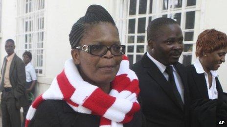 Beatrice Mtetwa outside court