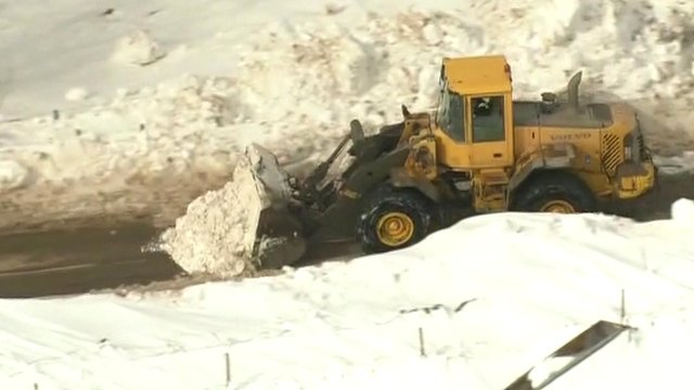 Snow plough on the Isle of Arran