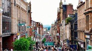 A view of Glasgow's Buchanan Street