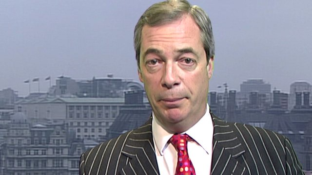 Leader of the UK Independence Party, Nigel Farage