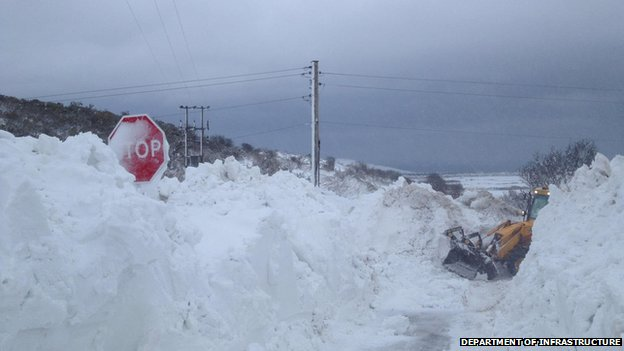 Isle of Man snow