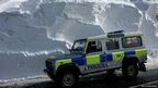Isle of Man constabulary vehicle in snow