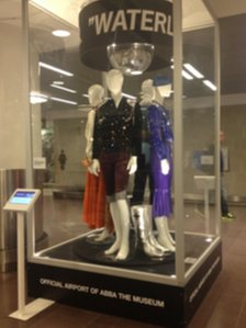 Abba exhibit at Stockholm's Arlanda Airport