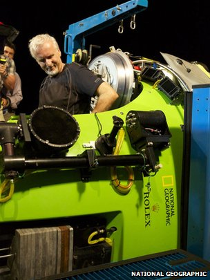 James Cameron in Deepsea Challenger