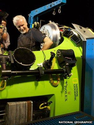 James Cameron in Deepsea Challenger