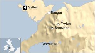 Tryfan map
