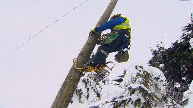 Engineer on pole