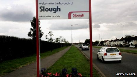 Welcome to Slough sign